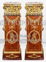 Pair%20Empire%20Pedestals%20Dore%20Bronze%20Ormolu%20White%20Marble%20Tops
