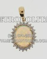 18K%20Yellow%20Gold%20Opal%20and%20Diamond%20Pendant%20